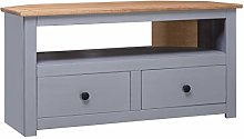 Festnight Corner TV Cabinet with 2 Drawers and