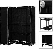 Festnight Corner Wardrobe Black 130x87x169 cm