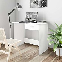 Festnight Desk White with Drawer, Console Table