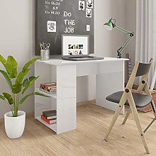 Festnight Desk with Shelves, Console Table for