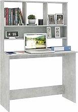 Festnight Desk with Shelves, Writing Table
