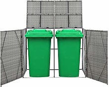 Festnight Double Wheelie Bin Shed, Storage Shed