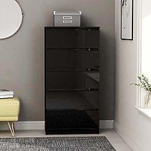 Festnight Drawer Sideboard Storage Cabinet with 5
