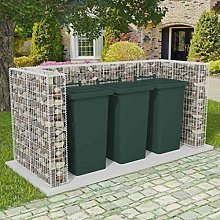 Festnight Gabion Wheelie Bin Surround| Waste