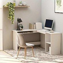 Festnight L-Shaped Corner Desk with Sliding