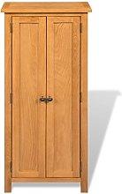 Festnight Oak Tall Cupboard Wooden High Storage
