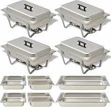 Festnight Set of 4 Chafing Dishes Stainless Steel