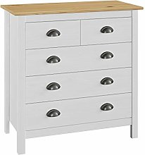 Festnight Sideboard, Side Cabinet with 4 Drawers,