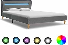 Festnight Single & Double Bed Frame with LED, with