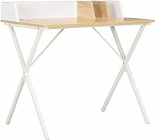 Festnight Study Desk Writing Table with Side