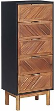 Festnight Tall Sideboard Tall Cabinet Chest of