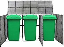 Festnight Triple Wheelie Bin Shed, Storage Shed
