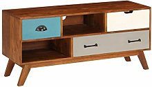 Festnight TV Cabinet TV Stand with 3 Drawers