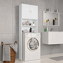 Festnight Washing Machine Cabinet with 2 Doors and
