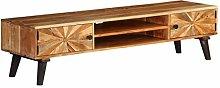Festnight Wood TV Cabinet TV Stand with Shelf &
