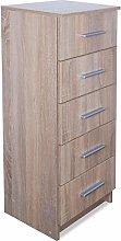 Festnight Wooden Bedroom Storage Tall Chest of