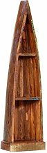 Festnight Wooden Boat Book Cabinet with 3