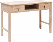 Festnight Writing Desk Natural 110x45x76 cm Wood