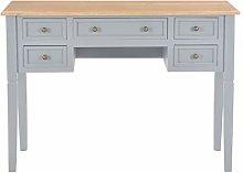 Festnight Writing Desk with 5 Drawers Workstation