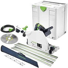 Festool TS75 110V Plunge Saw 561439 with 2 x Guide