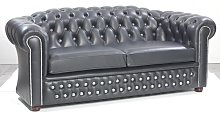 Feurstein Leather 2 Seater Chesterfield Sofa