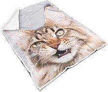 FFanClassic Blanket Angry Cat Regular Lightweight