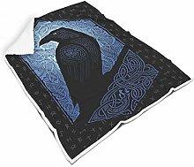 FFanClassic Blankets Viking odin Ravens Regular