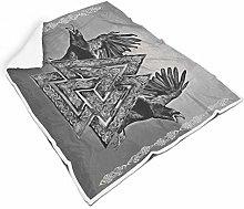 FFanClassic Blankets Viking Symbol and Ravens