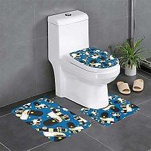 FFLSDR Cars Pattern Bathroom Rugs Set 3 Piece Soft