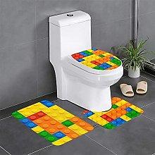 FFLSDR Colorful Toy Bathroom Rugs Set 3 Piece Soft