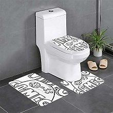 FFLSDR Controller Sketch Bathroom Rugs Set 3 Piece