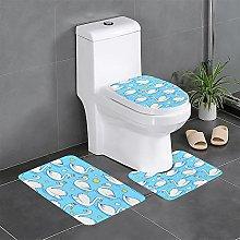 FFLSDR Cute Swan Bathroom Rugs Set 3 Piece Soft