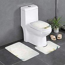 FFLSDR Lotus Petals Bathroom Rugs Set 3 Piece Soft