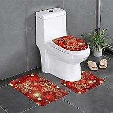 FFLSDR Valentine Hearts Golden Butterfly Bathroom