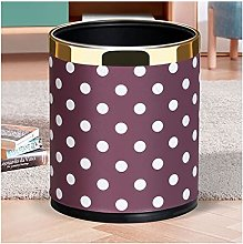 ffshop Indoor Trash Can Polka Dot Design Trash Can