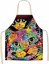 FFto Apron Kitchen Dog Aprons Cotton Linen Home