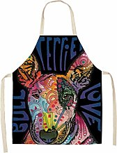 FFto Cooking Apron Cotton Linen Kitchen Aprons