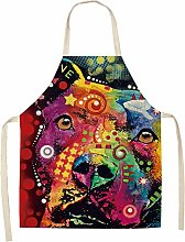 FFto Cooking Apron Kitchen Aprons Cotton Linen