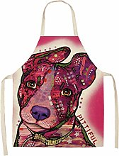 FFto Cotton Linen Cooking Apron Kitchen Aprons