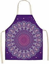 FFto Printed Kitchen Apron Woman Home Cooking