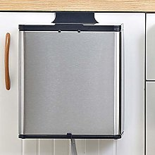 FFZW Hanging Trash Can with Lid Wall Mounted Waste