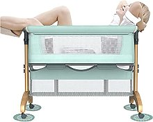 FGDSA Baby Bedside Crib Cot Bed, Travel Cot with