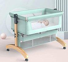 FGDSA Baby Cot,Bedside Crib with Cotton Mattress