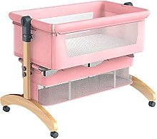 FGDSA Bedside Baby Crib Travel Cot with Mattress,