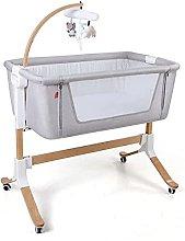 FGDSA Bedside Baby Crib with Music Box,Adjustable