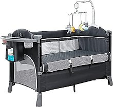 FGDSA Bedside Crib Baby Travel Cot, 3 in 1 Cot Bed