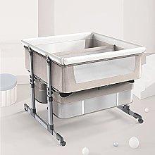 FGDSA Bedside Crib,Twin Crib with Wheels