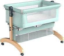 FGDSA Bedside Crib with Wheel,Visual Net Window