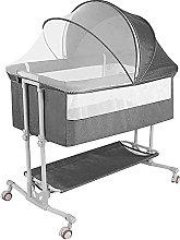 FGDSA Compact Bedside Baby Crib, Height Adjustable