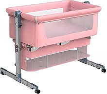 FGDSA Compact Bedside Crib with 360°Universal